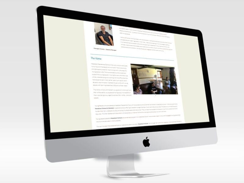 Headstart Care Desktop View