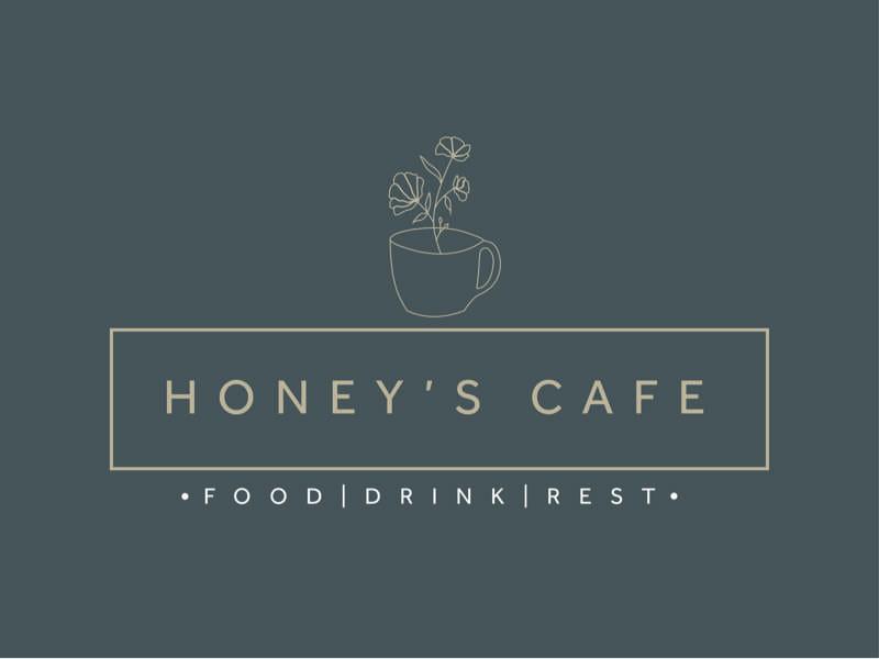 Honey's Cafe Logo Design